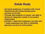 golub study