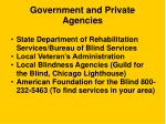 government and private agencies