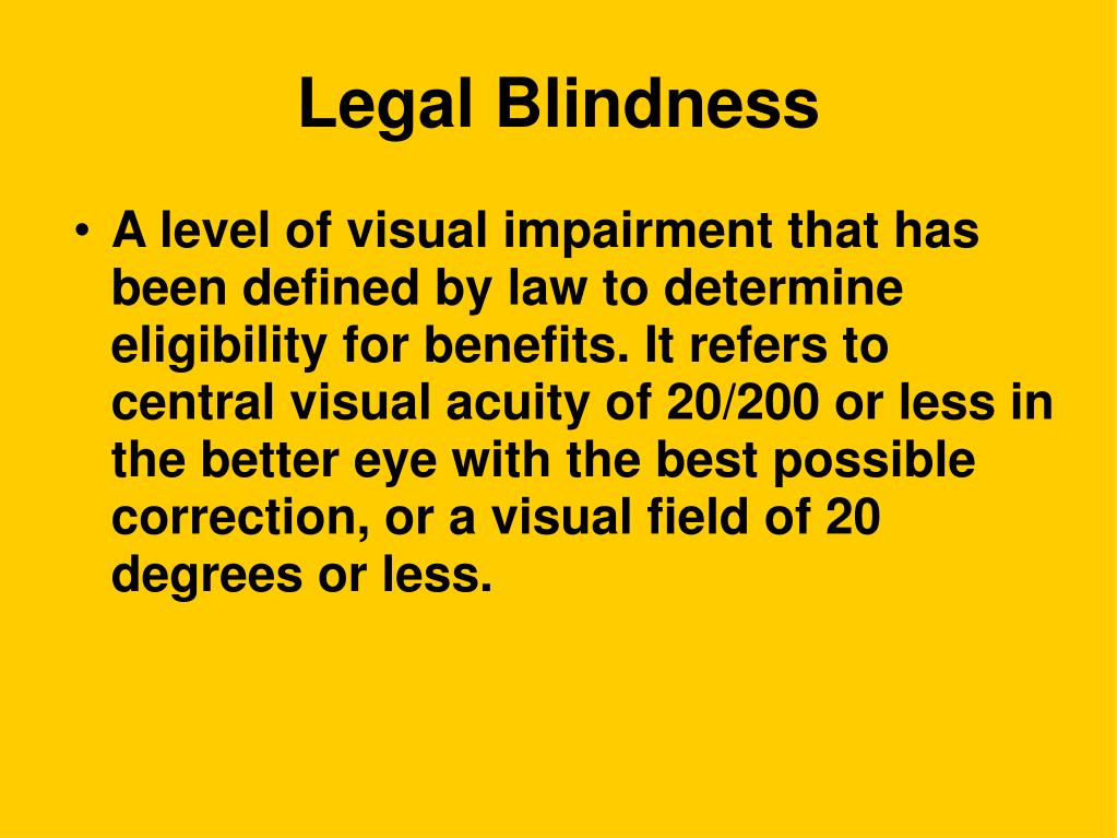 Legal Blindness