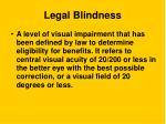 legal blindness