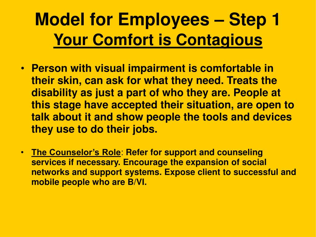 Model for Employees – Step 1