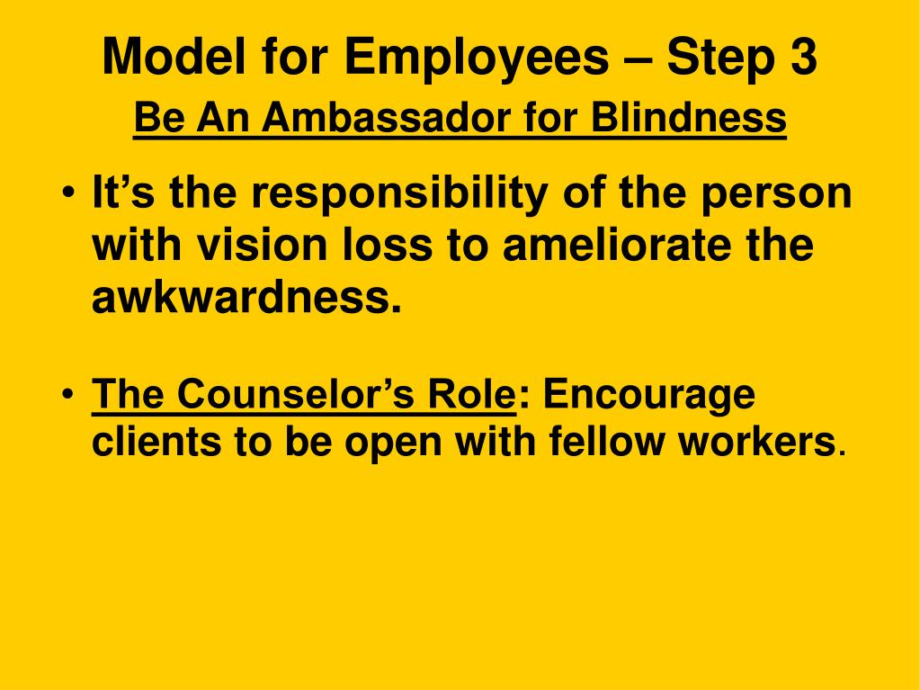 Model for Employees – Step 3