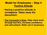 model for employees step 4 positive attitude