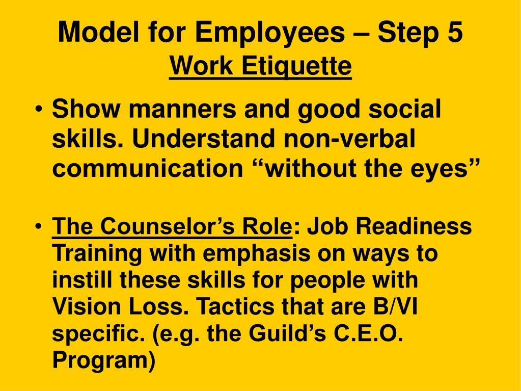 Model for Employees – Step 5