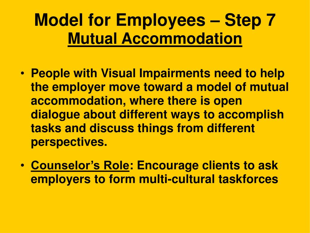 Model for Employees – Step 7
