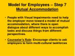 model for employees step 7 mutual accommodation
