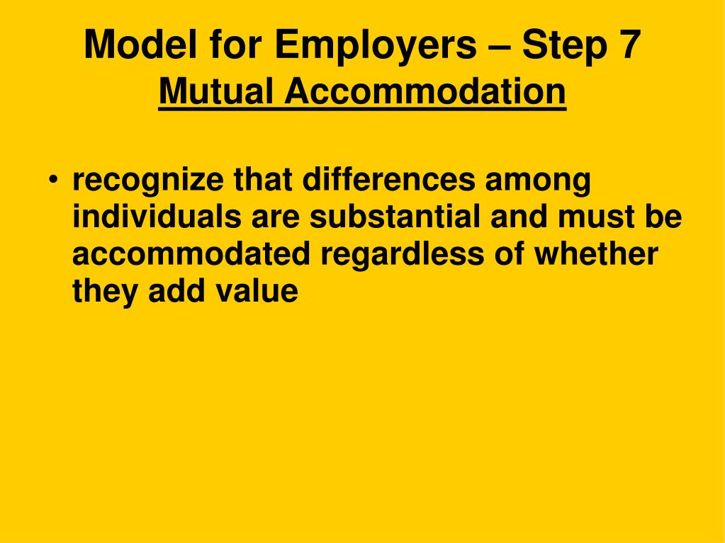 Model for Employers – Step 7