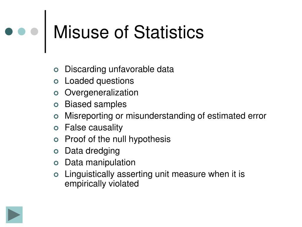 Misuse of Statistics