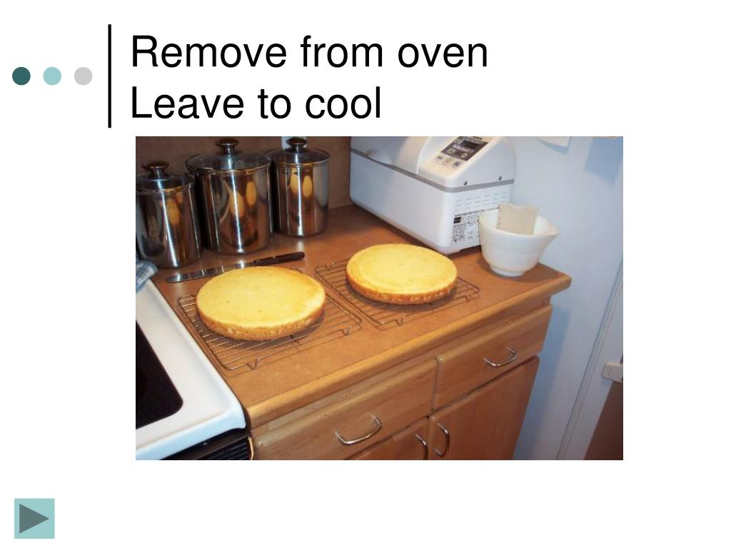 Remove from oven