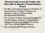historical achievements by families and other allies in regards to social inclusion cont11