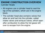 engine construction overview cylinder heads