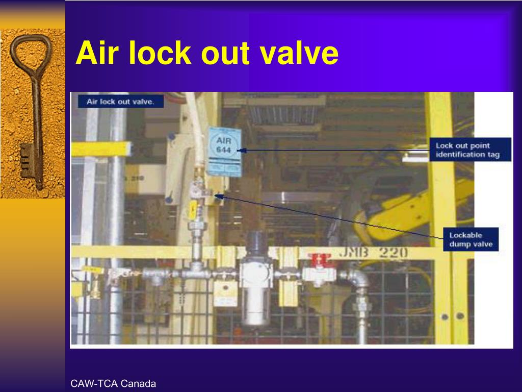 Air lock out valve