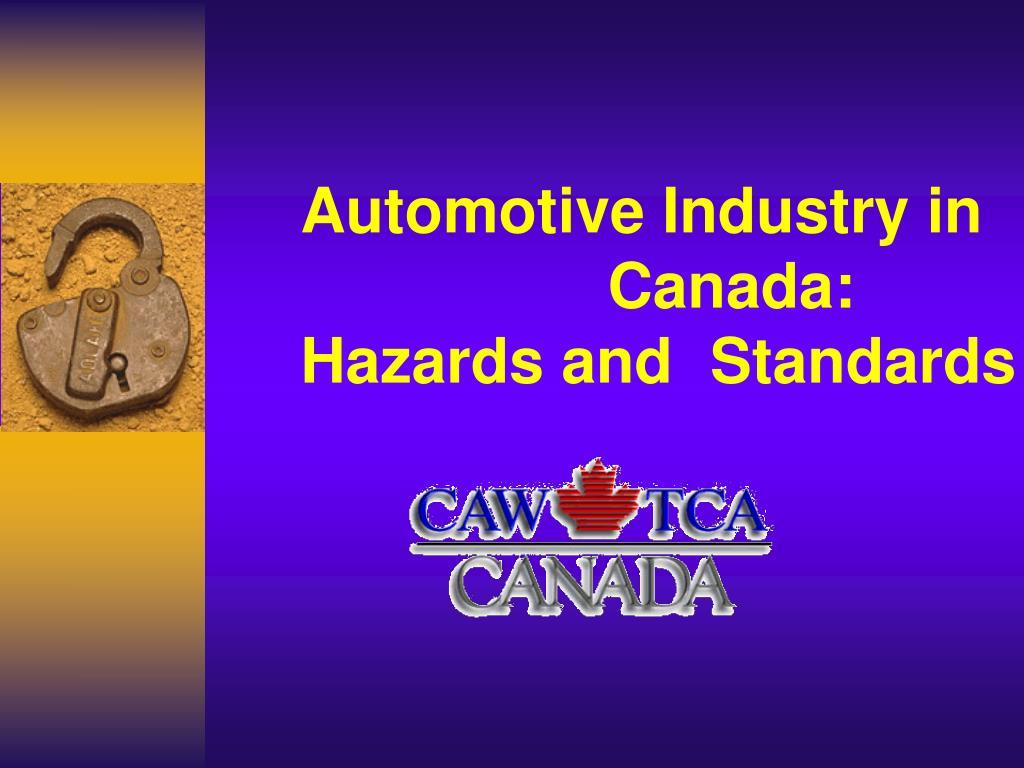 Automotive Industry in    Canada:
