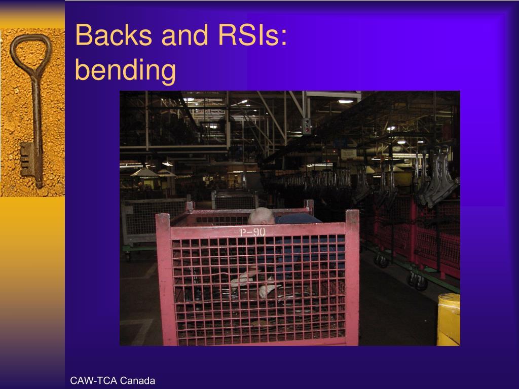 Backs and RSIs: