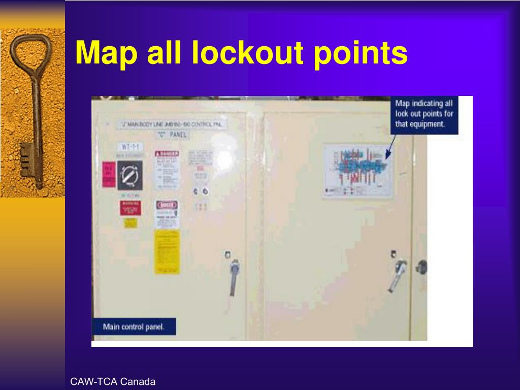 Map all lockout points