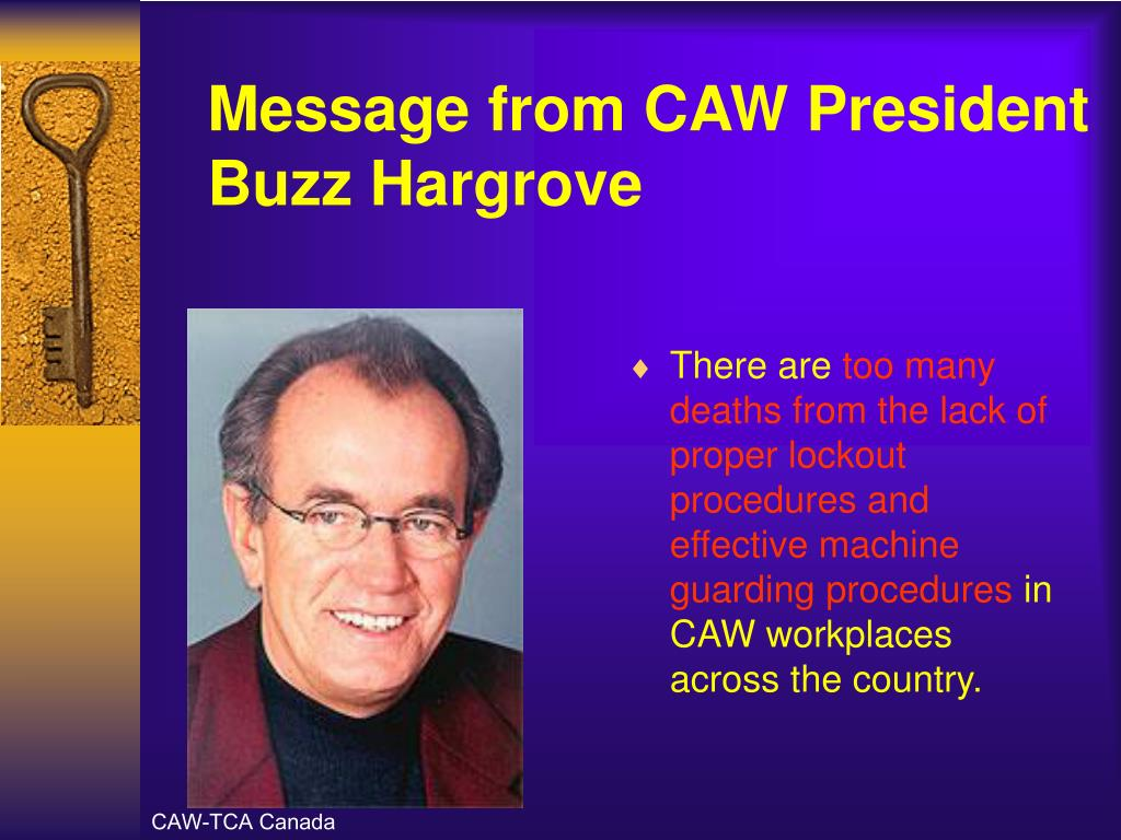 Message from CAW President Buzz Hargrove