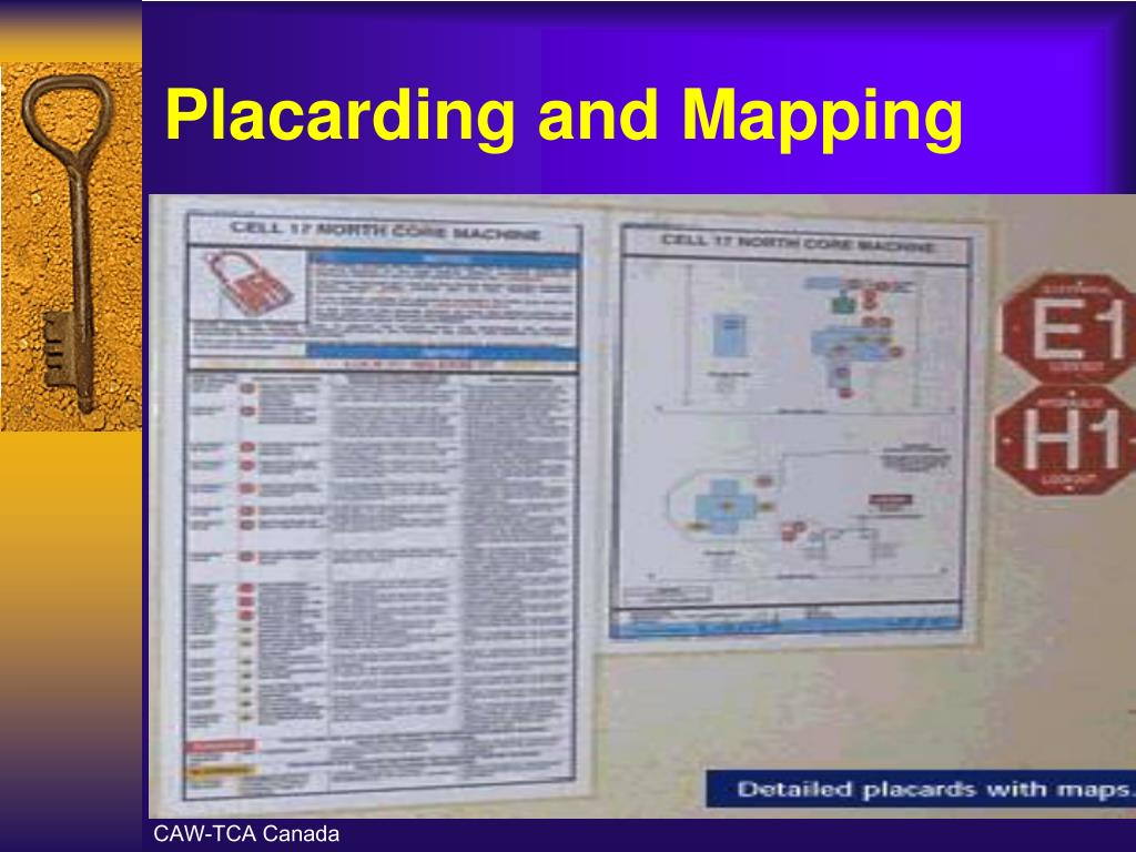 Placarding and Mapping