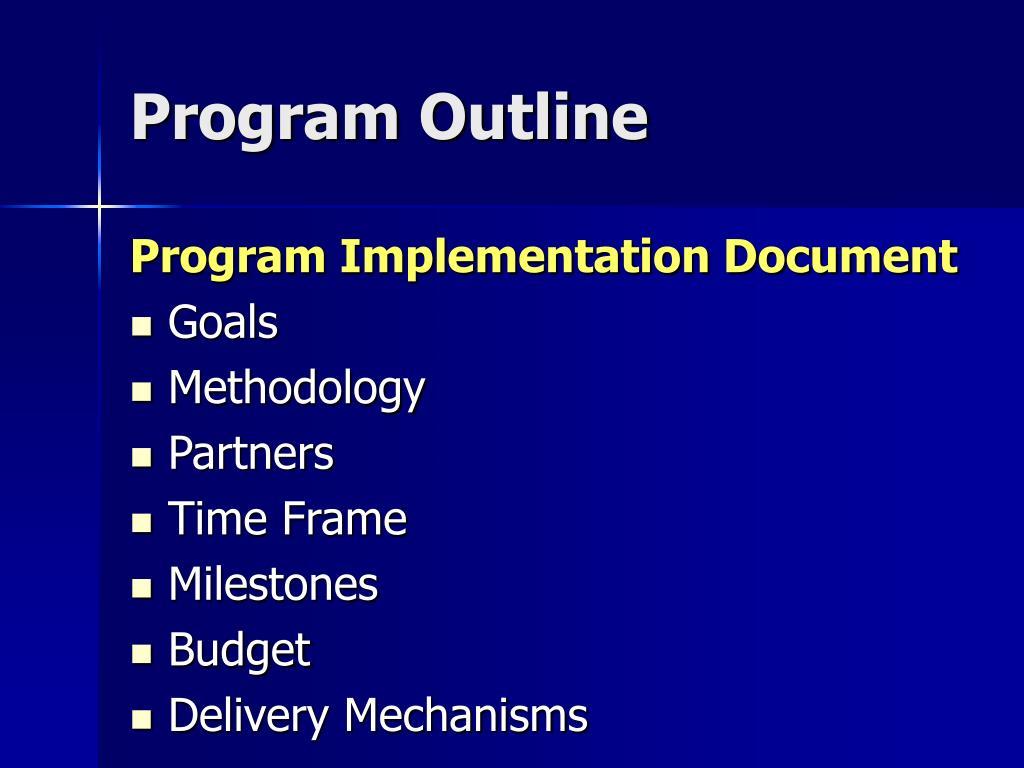 Program Outline