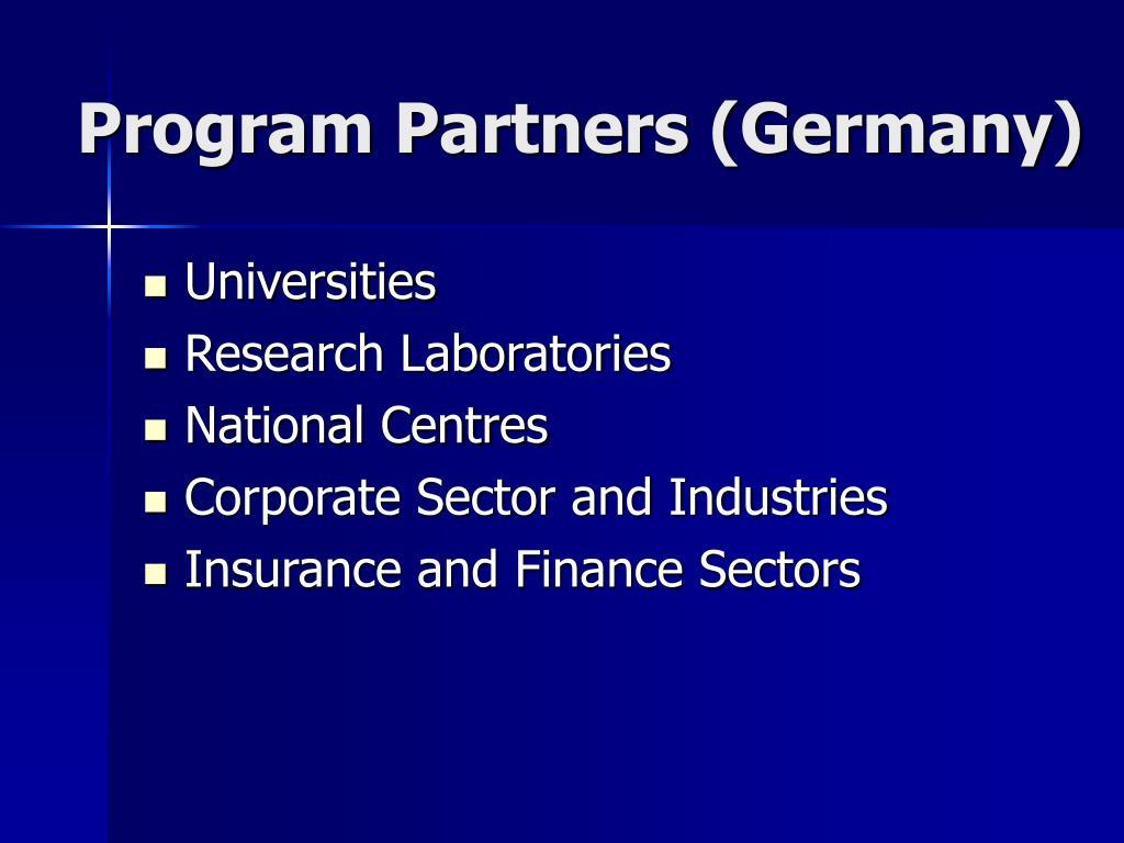 Program Partners (Germany)
