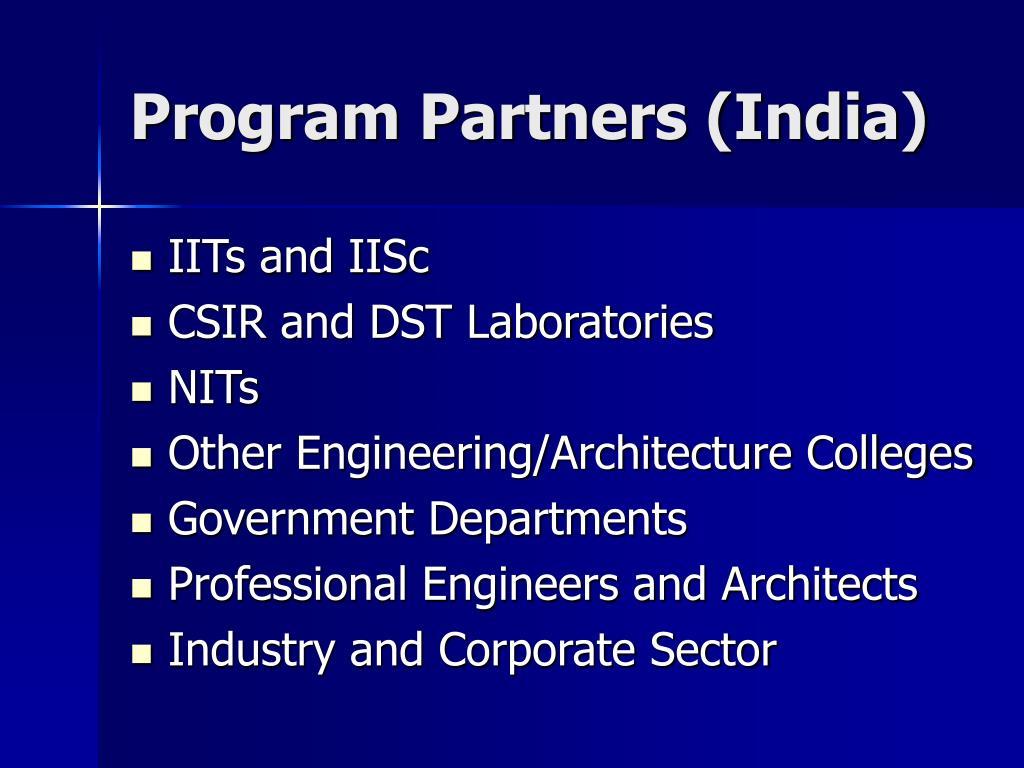 Program Partners (India)