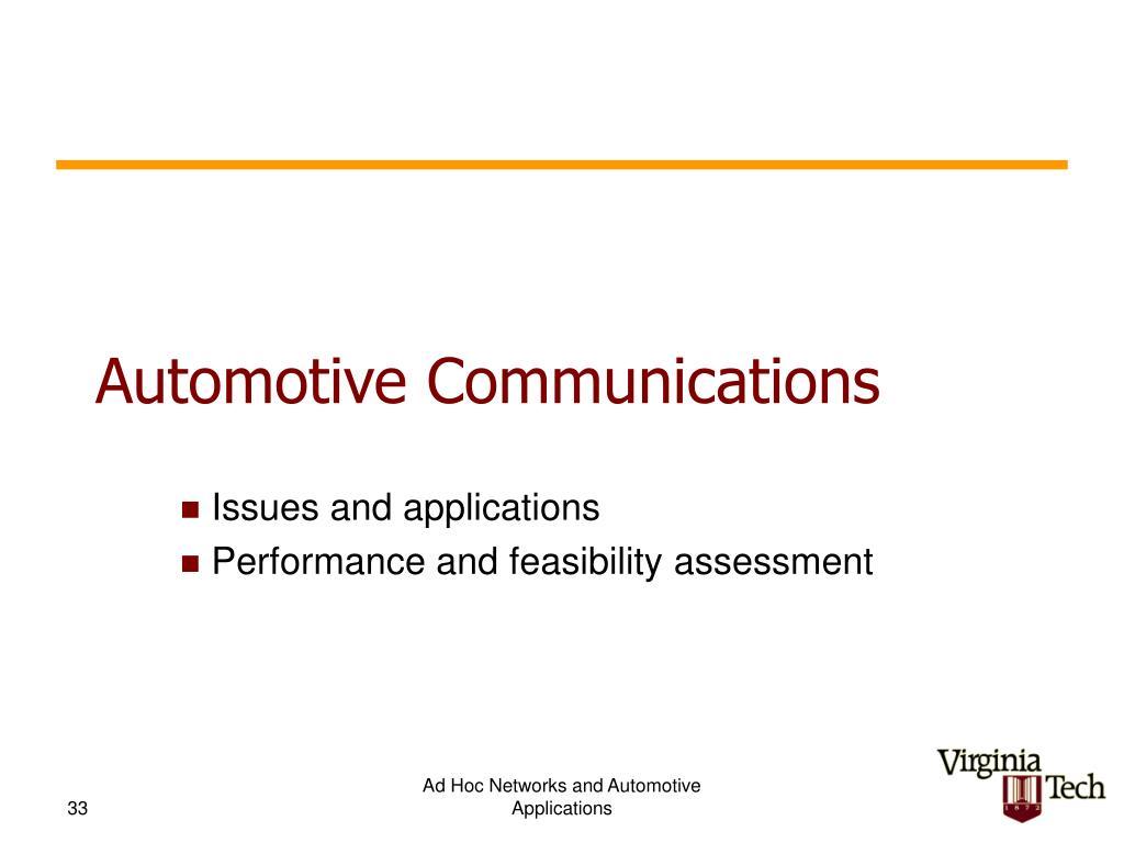 Automotive Communications