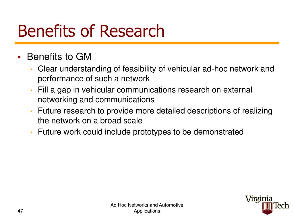 Benefits of Research