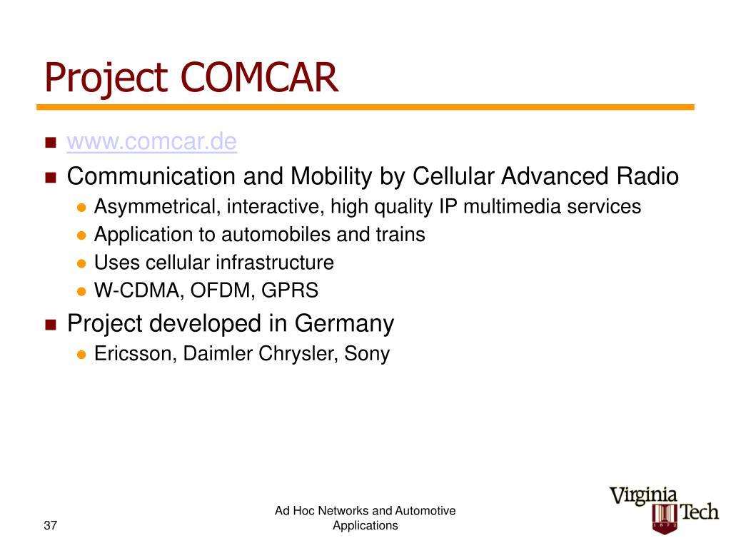 Project COMCAR
