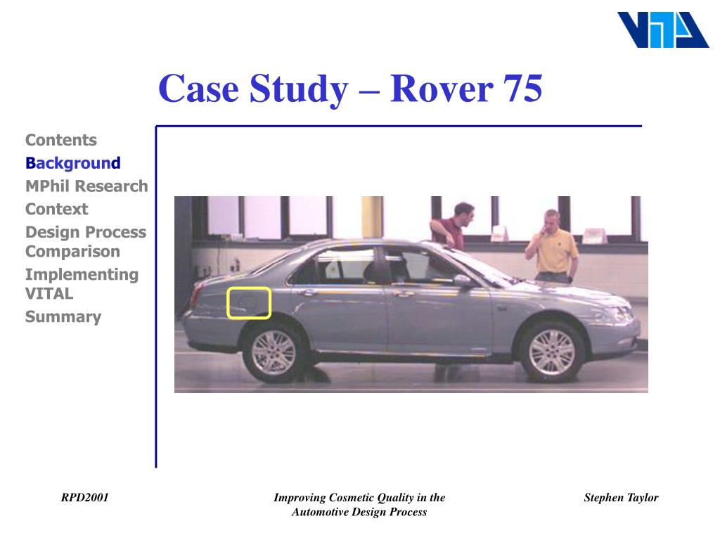 Case Study – Rover 75