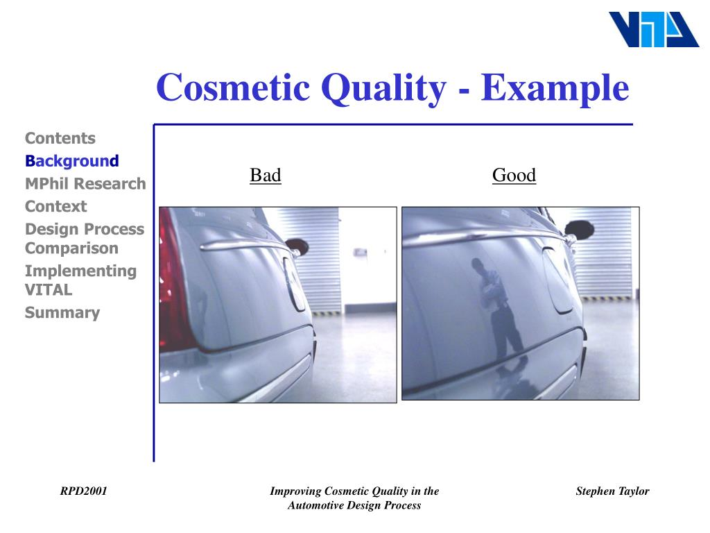 Cosmetic Quality - Example