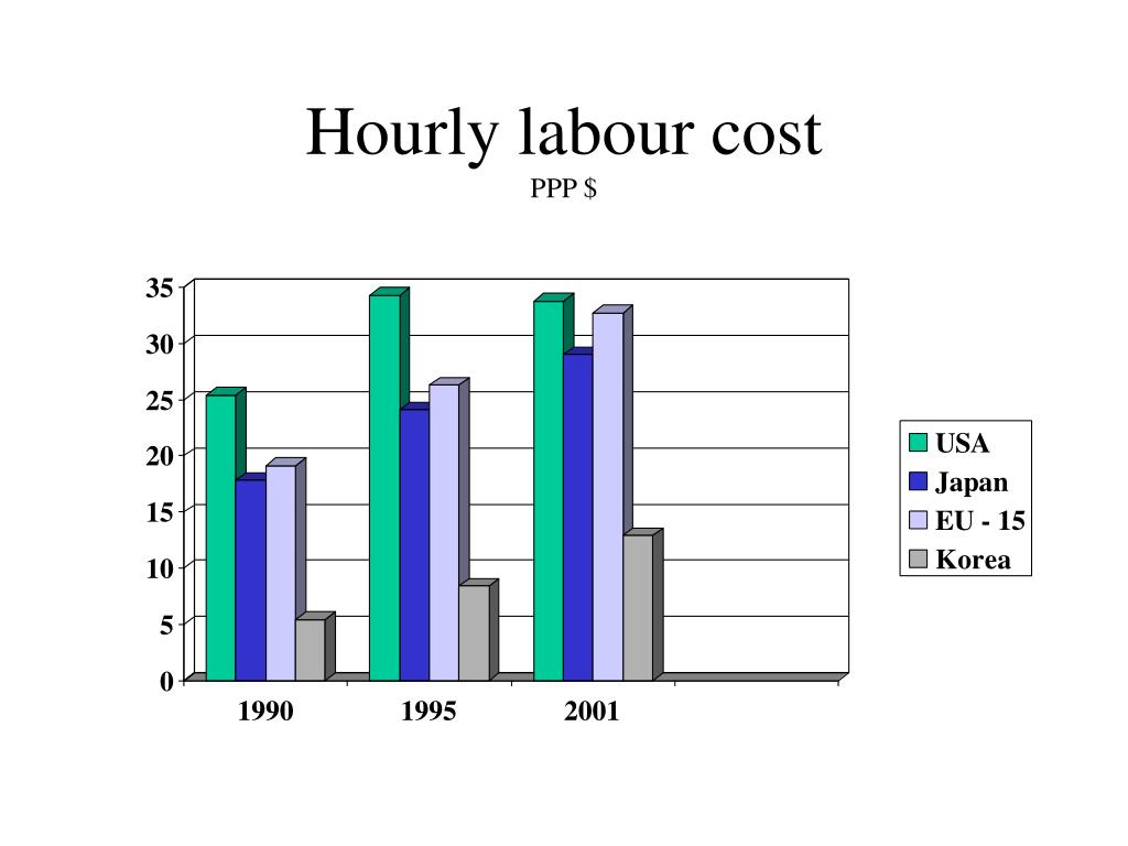 Hourly labour cost