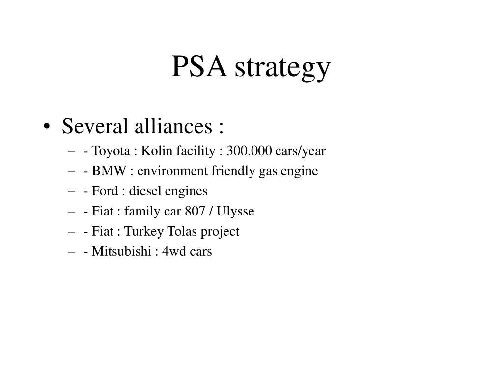 PSA strategy