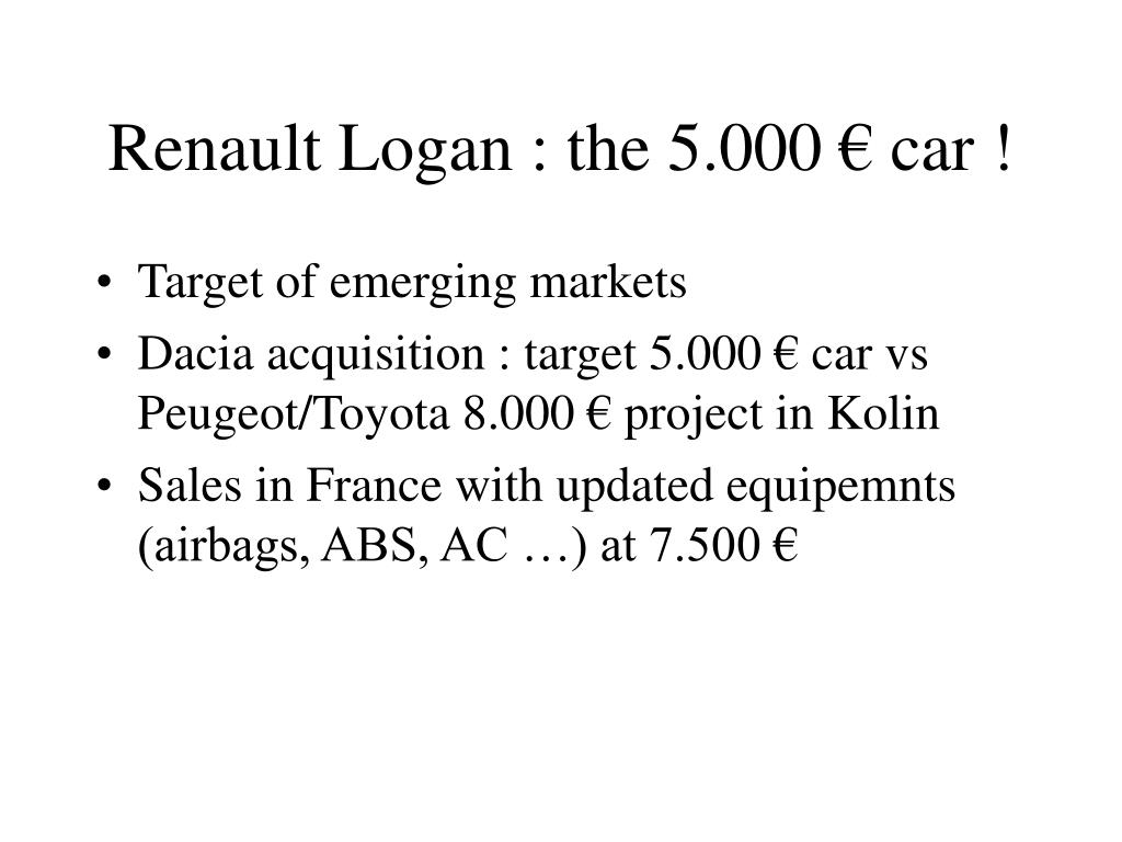 Renault Logan : the 5.000 € car !