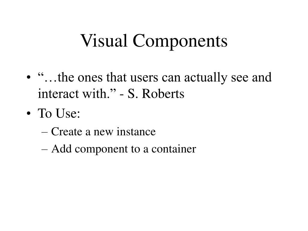 Visual Components