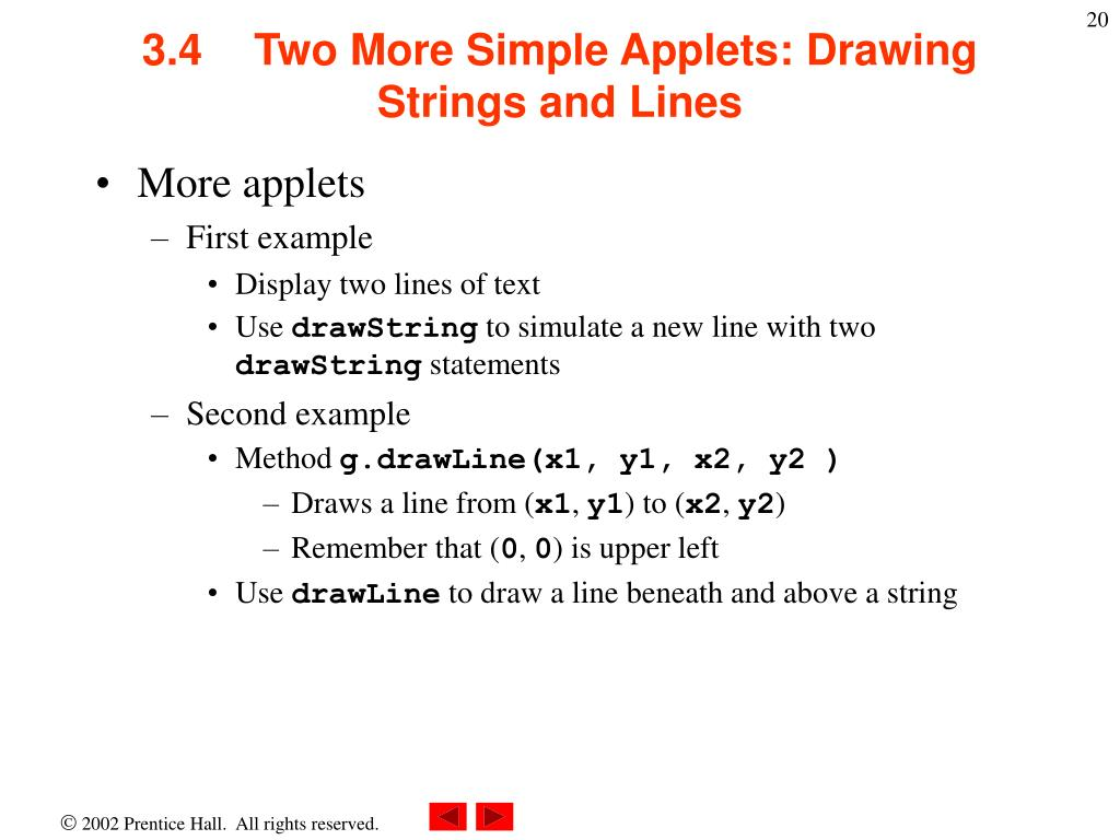 Drawing Lines Java Applet : Ppt chapter introduction to java applets powerpoint