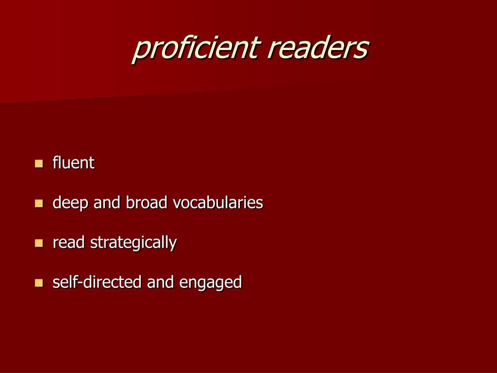 proficient readers