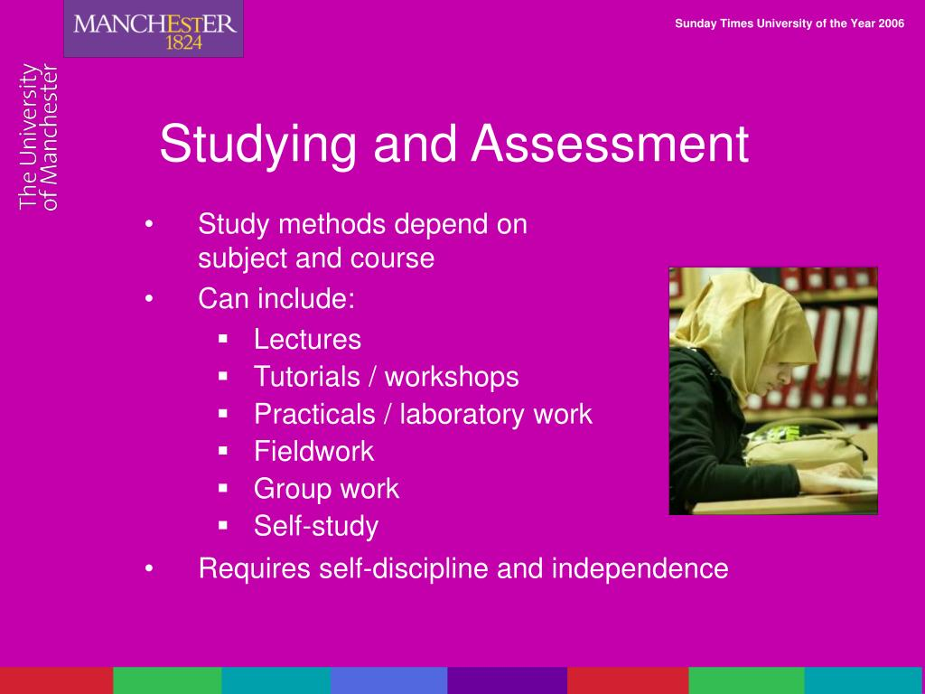 Studying and Assessment