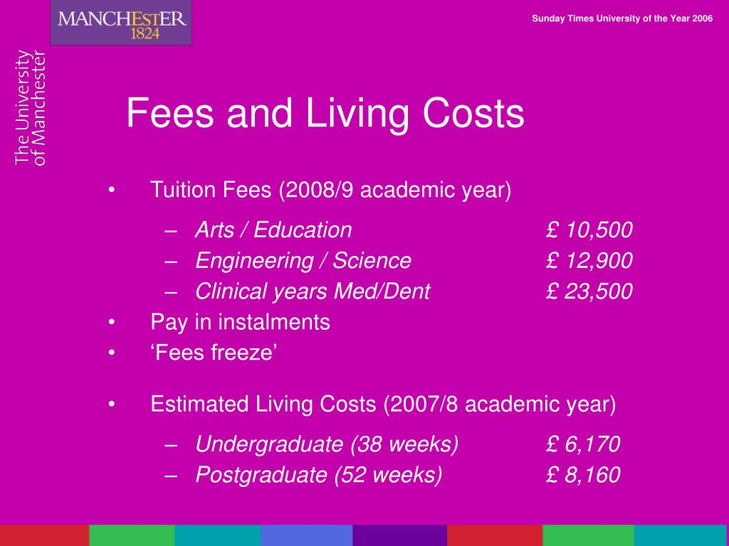 Fees and Living Costs