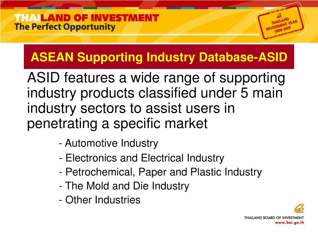 ASEAN Supporting Industry Database-ASID