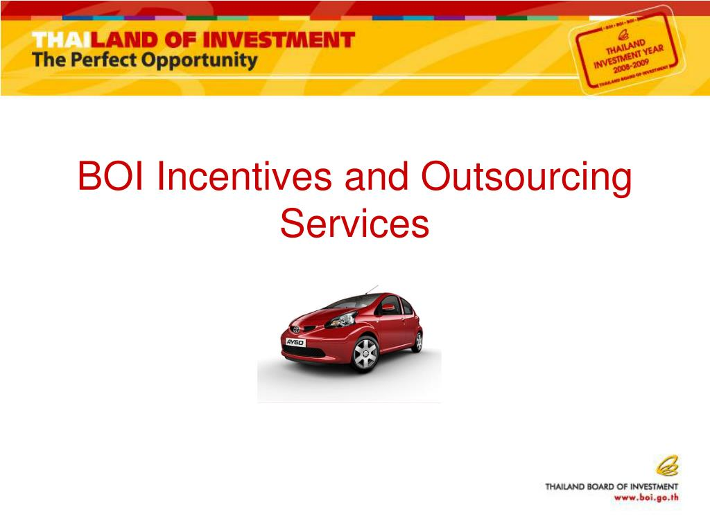 BOI Incentives and Outsourcing Services