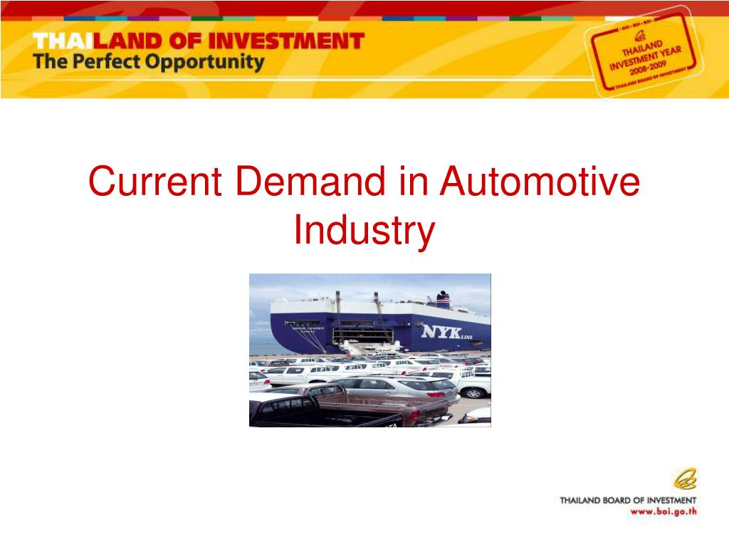Current Demand in Automotive Industry