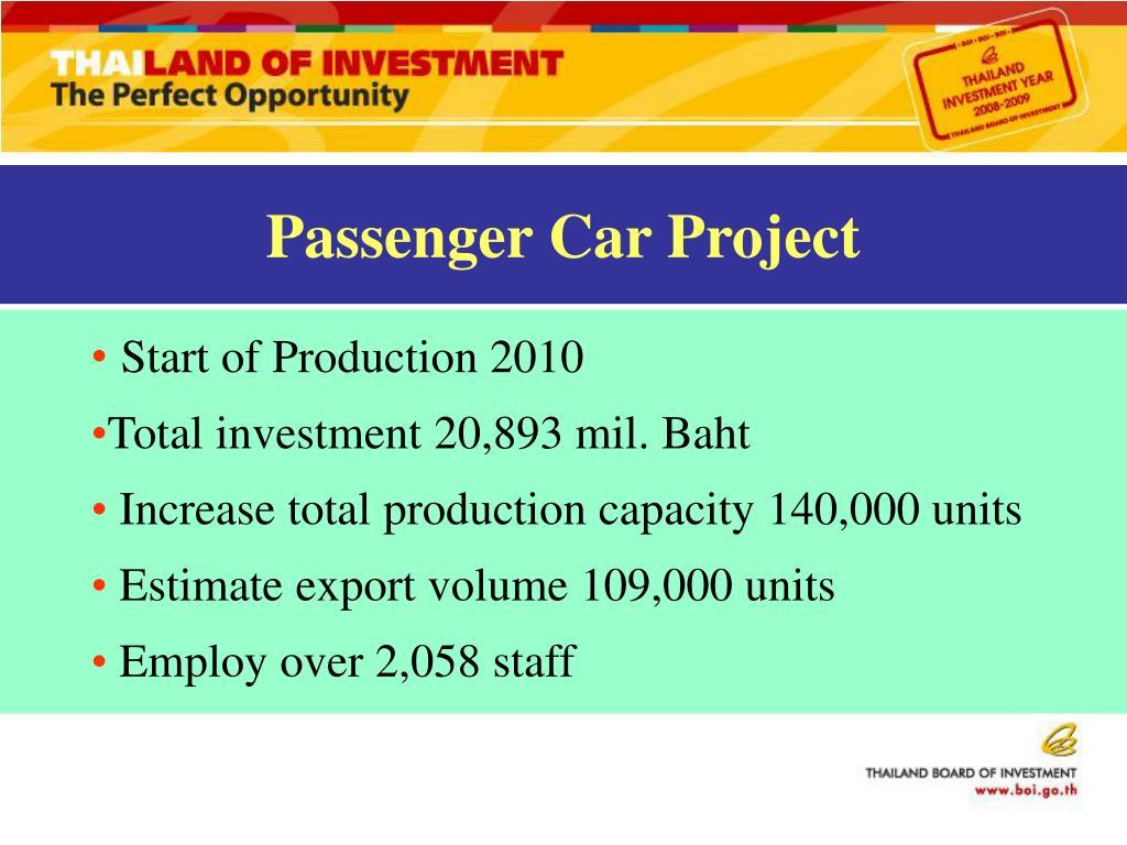 Passenger Car Project