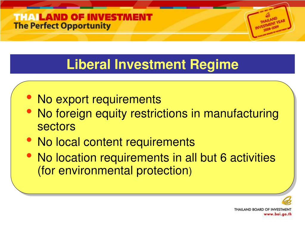 Liberal Investment Regime