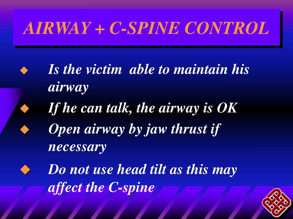 AIRWAY + C-SPINE CONTROL