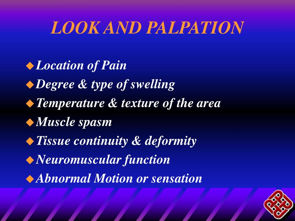 LOOK AND PALPATION