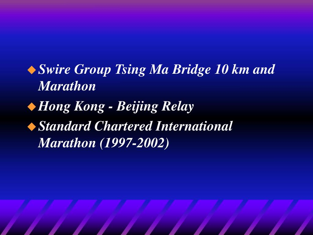 Swire Group Tsing Ma Bridge 10 km and Marathon