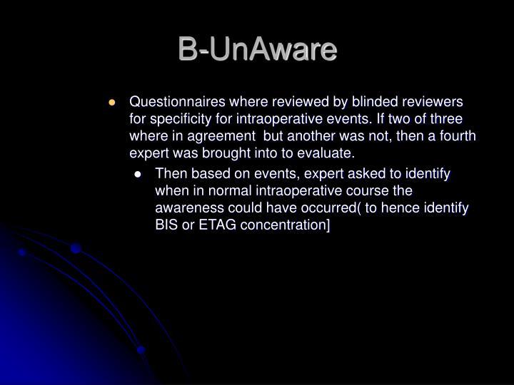 B-UnAware