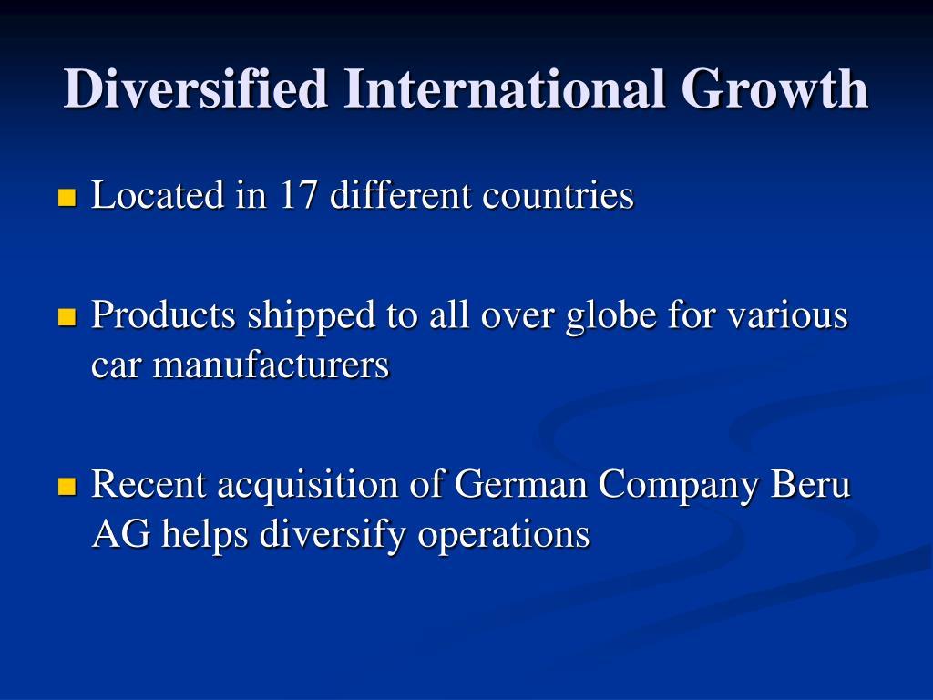 Diversified International Growth
