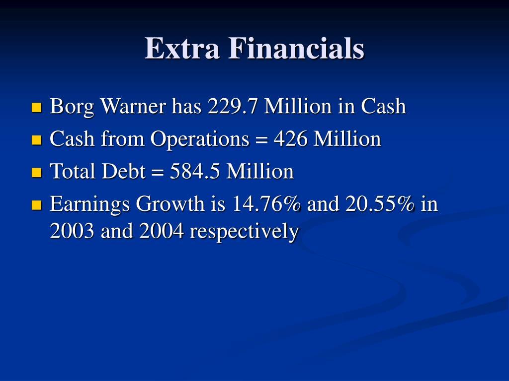 Extra Financials