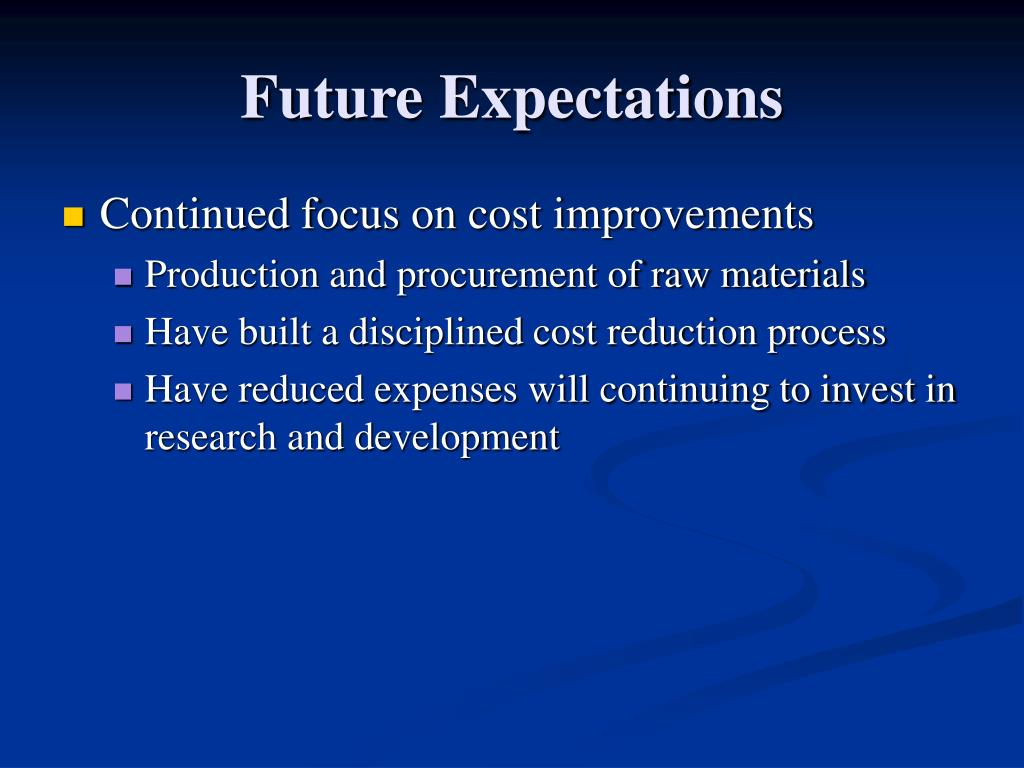 Future Expectations