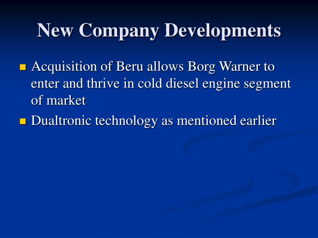 New Company Developments